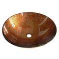 Amber Bronze Fauceture EVSPFB2 Milano Round Amber Bronze Glass Vessel Sink EVSPFB2