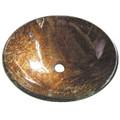 "Bronze Fauceture EVSPFD1 Trieste 16-1/2"" Diameter Round Vessel Glass Sink, Amber Bronze EVSPFD1"