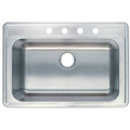 Stainless Steel Gourmetier GKTS332290 Self Rimming Single Bowl Sink, Satin Nickel  GKTS332290