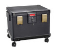 1.10 cu ft / Legal Size Waterproof 1 Hour Fire File Safe Chest & Wheel Cart HWDS1108W