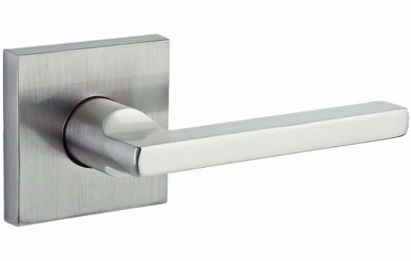 Baldwin HDSQURCSR150 Satin Nickel Square Single Dummy Lever Door Handle