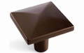 "AMEROCK BP29370-CBZ 1-3/16"" CARAMEL BRONZE EXTENSITY COLLECTION SQUARE KNOB"