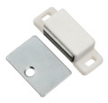 Belwith Hickory 1-7/16 In. White Super Magnetic Catch P109-W Hardware