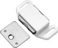 Belwith Hickory 1-5/8 In. White Magnetic Catch P110-W Hardware