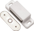 Belwith Hickory 1-1/2 In. White Small Magnetic Catch P650-W Hardware