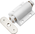 Belwith Hickory 7/8 In. White Magic Touch Latch P655-W Hardware