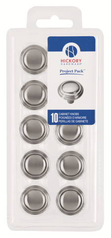 Belwith Hickory Project Pack 1-1/8 In. Bel Aire Satin Nickel Cabinet Knob (10 pack) VP3464-SN Hardware