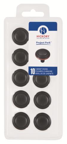 Belwith Hickory Project Pack 1-1/8 In. Bel Aire Vintage Bronze Cabinet Knob (10 pack) VP3464-VB Hardware