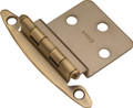 Belwith Hickory Antique Brass Semi-Concealed Flush Mount 3/8 In. Offset Hinge (2-Pack) P140-AB Hardware