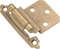 Belwith Hickory Antique Brass Surface Self-Closing 3/8 In. Offset Hinge (2-Pack) P143-AB Hardware