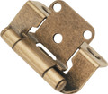 Belwith Hickory Antique Brass Semi-Concealed Hinge (2-Pack) P2710F-AB Hardware