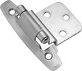 Belwith Hickory Satin Silver Cloud Surface Self-Closing 3/8 In. Offset Hinge (2-Pack) P295-SC Hardware