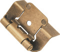 Belwith Hickory Antique Brass Semi-Concealed Full Wrap Hinge (2-Pack) P5710F-AB Hardware
