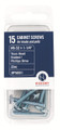 Belwith Hickory Project Pack of #8-32 X 1-1/4 In. Screws (15 pack) VP5001 Hardware