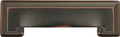 Belwith Hickory 3 In. and 96mm Studio Collection Oil-Rubbed Bronze Cup Cabinet Pull P3013-OBH Hardware