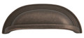 Belwith Hickory 96mm Deco Dark Antique Copper Cabinet Cup Pull P3104-DAC Hardware