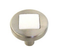 Belwith Hickory 1 In. Loft Satin Nickel With White Matte Cabinet Knob P3440-SNWM Hardware