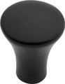 Belwith Hickory 1 In. Metropolis Matte Black Cabinet Knob PA0213-MB Hardware