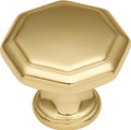 Belwith Hickory 1-1/8 In. Conquest Polished Brass Cabinet Knob P14004-3 Hardware