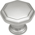 Belwith Hickory 1-1/8 In. Conquest Satin Nickel Cabinet Knob P14004-SN Hardware