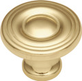 Belwith Hickory 1-1/8 In. Conquest Polished Brass Cabinet Knob P14402-3 Hardware