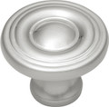 Belwith Hickory 1-1/8 In. Conquest Satin Nickel Cabinet Knob P14402-SN Hardware