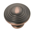 Belwith Hickory 1-1/4 In. Deco Oil-Rubbed Bronze Cabinet Knob P3103-OBH Hardware