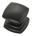 Belwith Hickory 1-1/4 In. Corinth Matte Black Cabinet Knob P3181-MB Hardware
