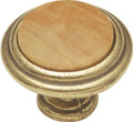 Belwith Hickory 1-1/4 In. Wood grain Oak Cabinet Knob  P415-OAK Hardware