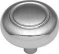 Belwith Hickory 1-1/4 In. Eclipse Satin Silver Cloud Cabinet Knob P209-SC Hardware