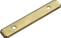 Belwith Hickory 3 In. Manor House Lancaster Hand Polished Back plate P513-LP Hardware