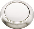 Belwith Hickory 1-3/16 In. Tranquility Satin Nickel with White Cabinet Knob P709-SNW Hardware
