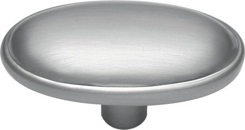 Belwith Hickory 1-11/16 In. Tranquility Satin Silver Cloud Oval Cabinet Knob P517-SC Hardware
