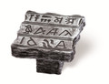 Siro Designs 100-134 Antique Silver  48Mm Knob Hieroglyphics