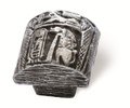 Siro Designs 100-138 Antique Silver  36Mm  Knob Egyptian Mural