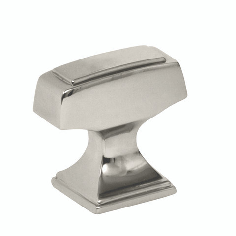 """Amerock BP53029PN 1 1/4"""" Cabinet T Knob Polished Nickel Finish Mulholland Collection"""