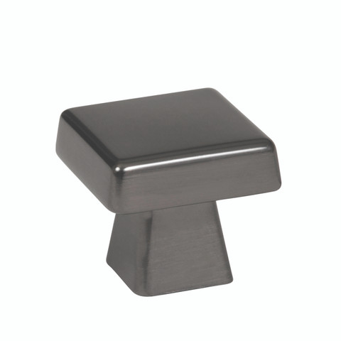 "Amerock BP55271GM  1 1/16"" Cabinet Square Knob Gunmetal Finish Blackrock Collection"