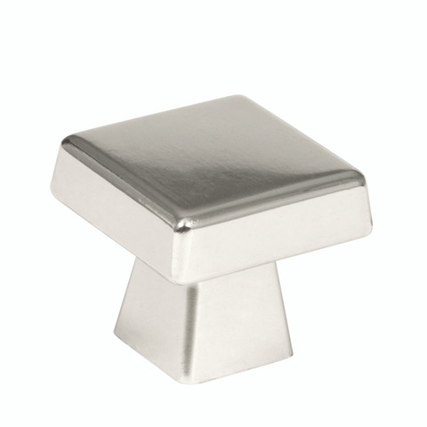 "Amerock BP55273PN 1 1/2"" Cabinet Oversized Square Knob Polished Nickel Finish Blackrock Collection"