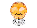 "Top Knobs Crystal TK111PC Amber Crystal Knob 1 1/8"" w/ Polished"