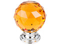 "Top Knobs Crystal TK112PC Amber Crystal Knob 1 3/8"" w/ Polished"