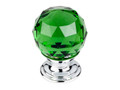 "Top Knobs Crystal TK119PC Green Crystal Knob 1 1/8"" w/ Polished"