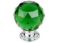 "Top Knobs Crystal TK120PC Green Crystal Knob 1 3/8"" w/ Polished"