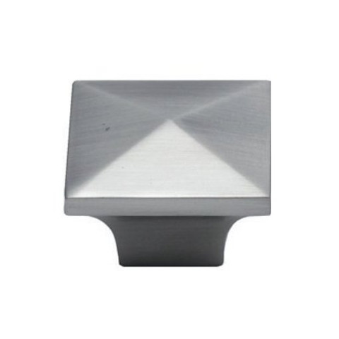 Jamison K53082Sn Knob 32Mm Sq Satin Nickel Pyramid Knob