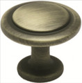 Jamison K80960Absb Knob 30Mm Deco Antique Satin Brass Knob