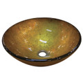 "Gold Fauceture EVSPFB6 Catania  16-1/2"" Diameter Round Vessel Glass Sink, Gold EVSPFB6"