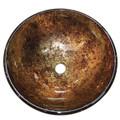 "Amber Fauceture EVSPFB7 Palermo 16-1/2"" Diameter Round Vessel Glass Sink, Amber  EVSPFB7"