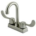 "Satin Nickel Two Handle 4"" Centerset Bar Faucet KB451SN"