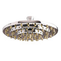 "Polished Chrome/Polished Brass 8"" Three-tier Shower Head K208A4"