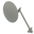 "Satin Nickel 8"" Shower Head & 10"" Arm Kit K136K8"