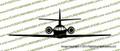 Dassault Falcon 20 FRONT Vinyl Die-Cut Sticker / Decal VSF20F